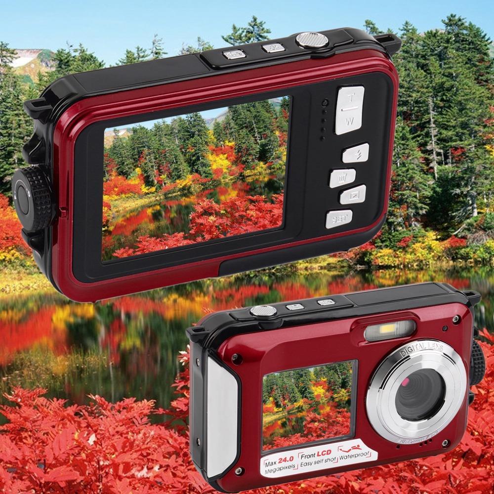 2.7inch TFT Digital Camera Waterproof 24MP MAX 1080P Double Screen 16x Digital Zoom Camcorder Wholesale(China (Mainland))