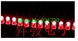 Free shipping 10PCS E-light LED lamp beads red LED lights red red 100PCS high 8MM F5MM(China (Mainland))
