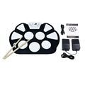 YHX YHX New Professional Roll up Drum Pad Kit Silicon Foldable with Stick Portable Drum Electronic