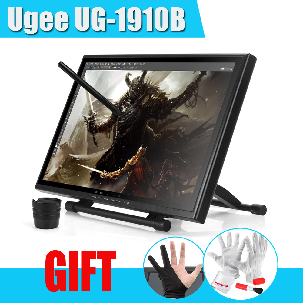 "UGEE UG-1910B Professional 19"" LCD Graphic Monitor Art Graphic Tablet Drawing Digital Tablet Board USB Pen Drawing Pad Grafico(China (Mainland))"