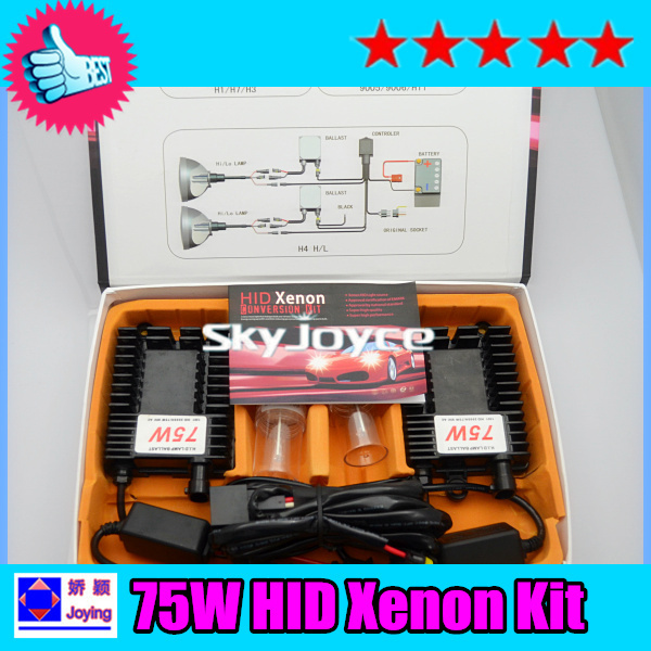1X fast bright 75W hid Xenon kit H1 H3 H7 H8 H9 H11 H10 9005 9006 75W hid kit auto headlight bulb hid conversion kit headlamp(China (Mainland))