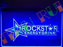 LE228- Rockstar Energy Drink Beer Bar LED Neon Light Sign home decor shop crafts(China (Mainland))
