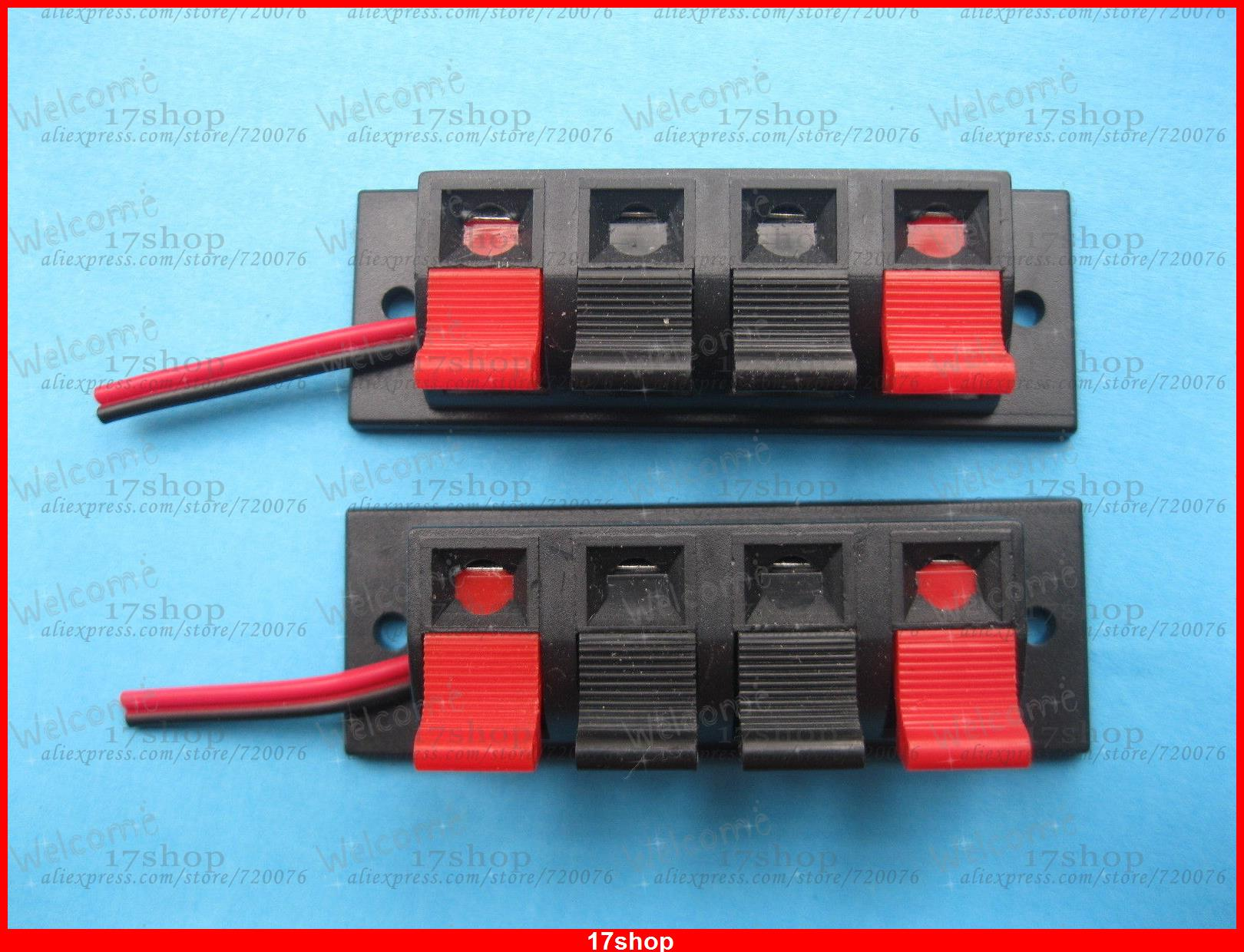 10 pcs 4 Pin Speaker Terminal Board Connector Spring Loaded With Soldered Wire<br><br>Aliexpress