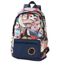 Buy Japan Korean Style Canvas Women Bag Graffiti Backpack School Bags Teenagers Ladies Girl Back Pack Schoolbag Bagpack Mochila for $21.37 in AliExpress store