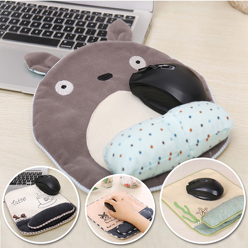 Totoro Cartoon Fabric Mouse pad with wrist rest Laptop PC Big Gaming mouse mat(China (Mainland))