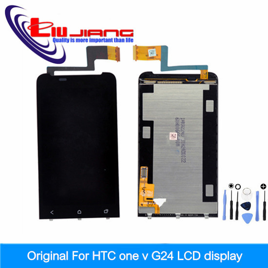 New Original LCD Screen For HTC one v T320e G24 Touch display Digitizer Assembly replacement Tool