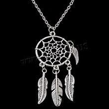2016 Dream Catcher Pendant Dreamcatcher Necklace Women Bohemia Tassels Feather Jewelry Accessories Charm Statement Chain Choker(China (Mainland))