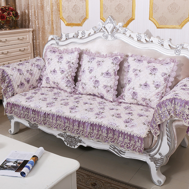 Pastoral Jacquard Fabric Case On The Couch Quilted Sofa