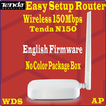 Eng-Firmware TENDA 150Mbps WiFi Wireless N150 Home Router Easy Install WDS Router 150M WISP, 4 ports, No Color Package Box (China (Mainland))