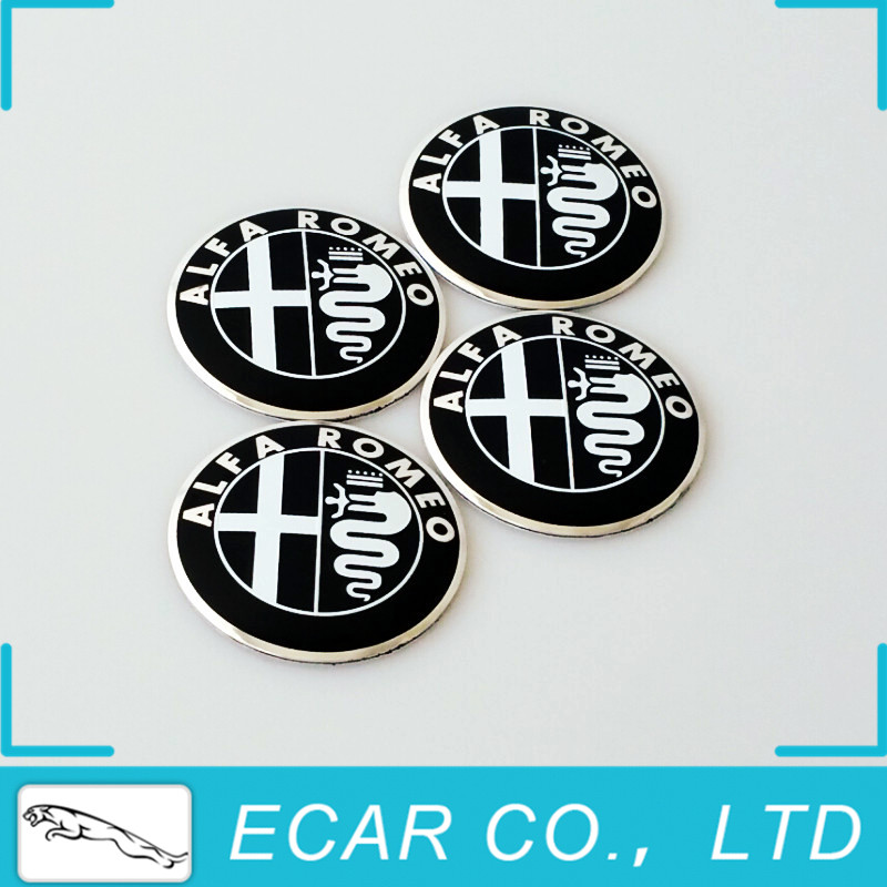 50Pcs/lot 74mm 3D Aluminum ALFA ROMEO Emblem Badge Logo for Mito 147 156 159 166 Giulietta Spider GT Car Emblem Badge Sticker(China (Mainland))