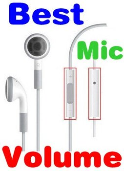 Blue PCB Earphone Volume Remote Control W/ Mic Button For Apple IPhone 5 5G 4G 4GS 4S 4 3G IPod Microphone Headphone White 10PCS