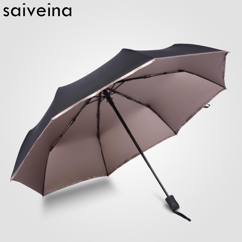 Saiveina automatic folding umbrella rain women parasol auto beach umbrellas ladies uv umbrella for sun windproof men vintage(China (Mainland))