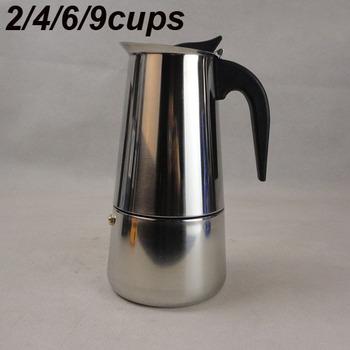 2 / 4 / 6 / 9 чашки (чашек) 100 мл / 200 мл / 300 мл / 450 мл нержавеющая сталь мока эспрессо латте перколяторе плитой кофе горшок