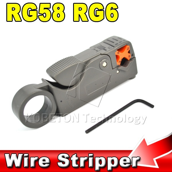 2015 Hot Sale Multifunction Rotary Coax Coaxial Cable Cutter Tool RG58 RG59 RG6 Wire Stripper Household Tool(China (Mainland))