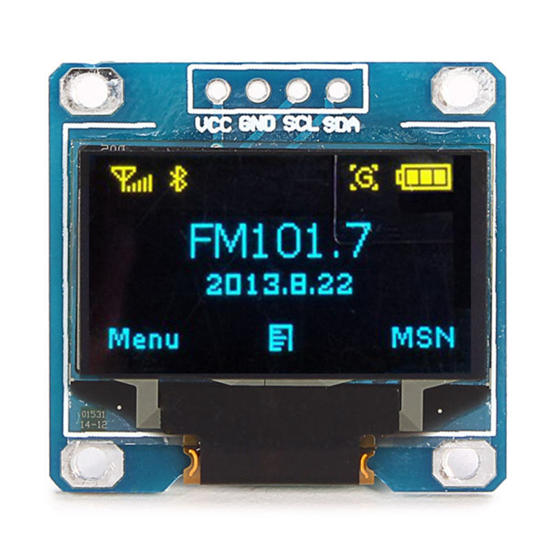 """0.96 inch Yellow + Blue Double Color IIC Communication 12864 OLED Display Module OLED LCD Screen 0.96"""" 128X64 I2C(China (Mainland))"""