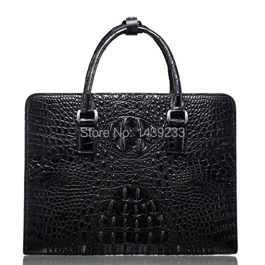 Genuine Crocodile leather briefcase men business bag crocodile leather chain handbag<br><br>Aliexpress