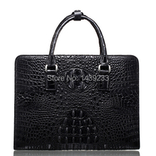 Genuine Crocodile leather briefcase men business bag crocodile leather 100% original material(China (Mainland))
