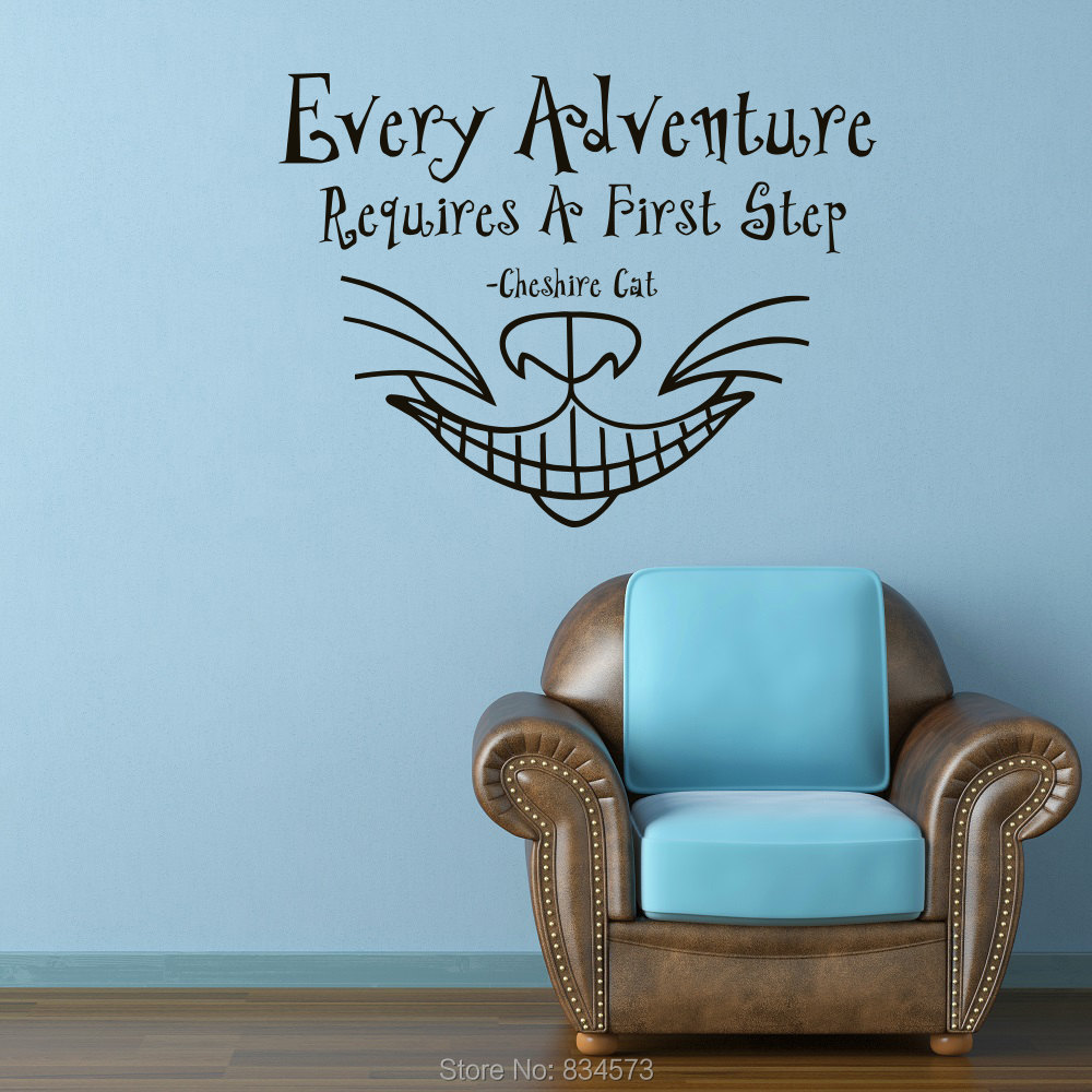 Alice In Wonderland Font B Cheshire B Font Font B Cat B Font Wall Art