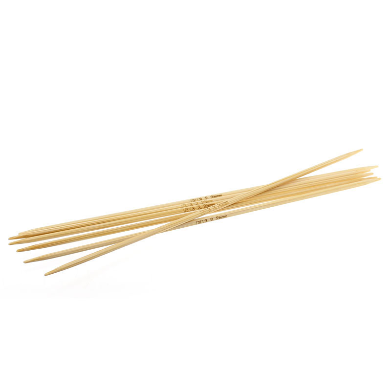 Bamboo Knitting Needles : Bamboo Knitting Needles Natural Double Pointed UK13 2.25mm,15cm long ...