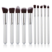 2015 Beauty 10pcs Makeup Brushes Set For Women Cosmetic Make Up Brushes Foundation Eyeshadow pinceis maquiagem G#J6