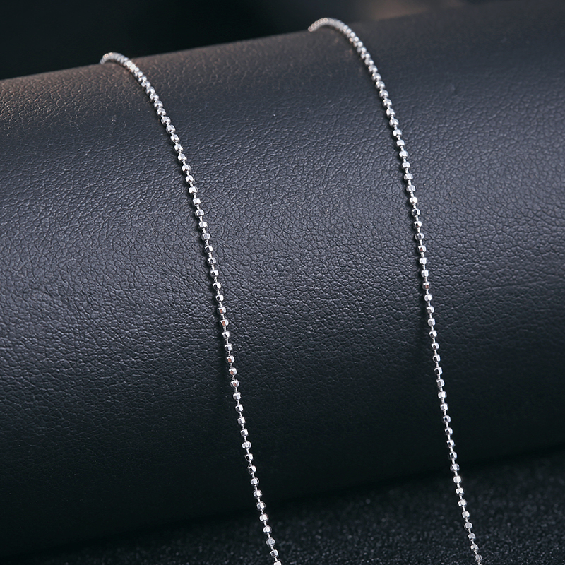 DIY 925 silver jewelry necklaces for woman sterling silver ball chains thin short white gold 2016 new summer 45cm 1pcs free ship(China (Mainland))
