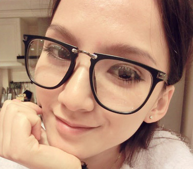 Large Frame Glasses Big Eyewear Frame for Decoration Black Glasses(China (Mainland))