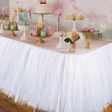 Buy Wedding Party Tulle Tutu Table Skirt Birthday Baby Shower Wedding Table Decorations Diy Craft Supplies Hot Sale for $11.28 in AliExpress store