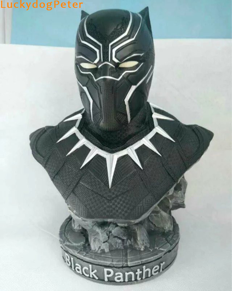 Black Panther Resin Action Figure 1/2 scale painted figure Captain America III Black Panther Bust Doll PVC figure Garage Kit(China (Mainland))