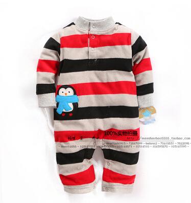 Осень и зима детская одежда ребенка ползунки флиса новорожденный одежда детская одежда цельный новорожденных пижамы