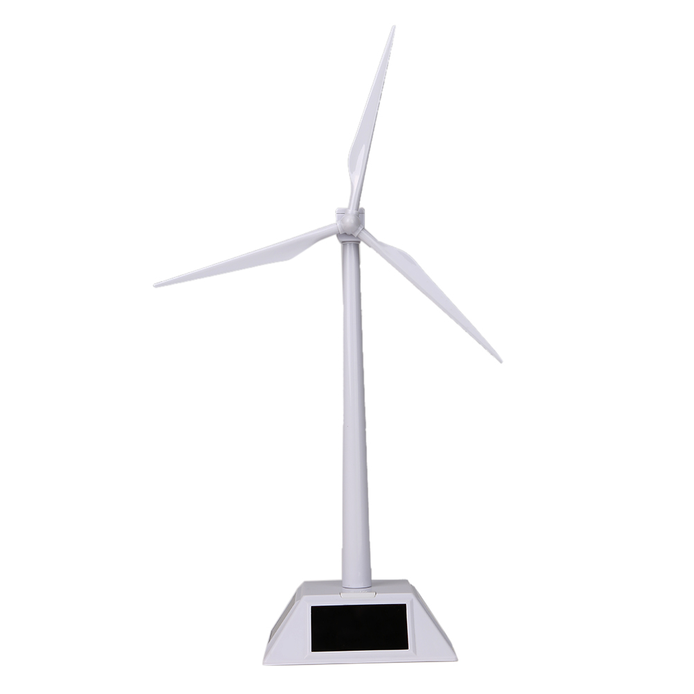 Children Educational Windmills Desktop Model Solar Powered Windmills/Wind Turbine Solar Powered Rotating Base Windmills Toy Gift