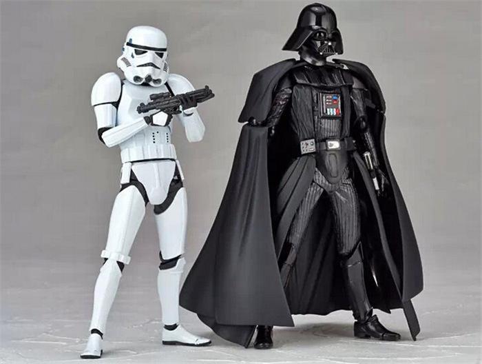 Star Wars Figure Toy Stormtrooper Black Knight Darth Vader PVC Model Action Figure Black Worrior Clone Trooper Toy Model(China (Mainland))