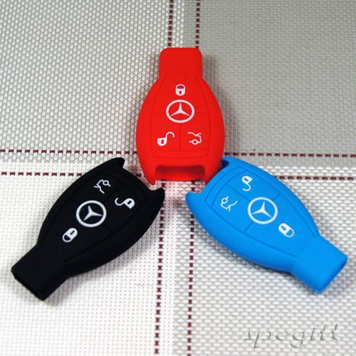 10 DHL soft silicone car key cover Benz Series S E SLK CLS CLK ML G GL GLK SL Class remote case