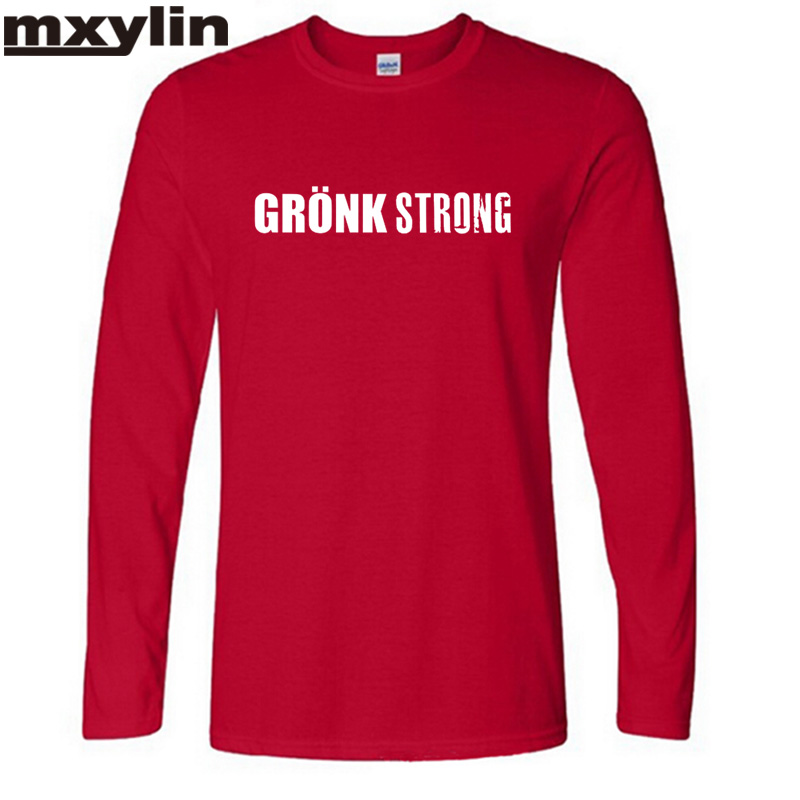 2017 Autumn and winter Crazy Long Sleeve Cotton Gronk Strong Rob Gronkowski Men's t-shirt Leisure time t shirts Plus Size(China (Mainland))