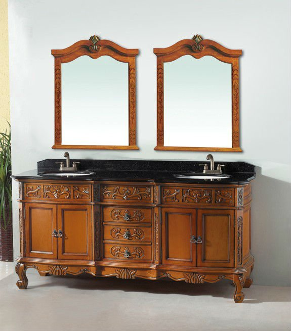 Antique Bathroom Vanity Luxury Bathroom Decoration Luxury Vanity Cabinet Double Sinks Bath Vanity Antique Bathroom