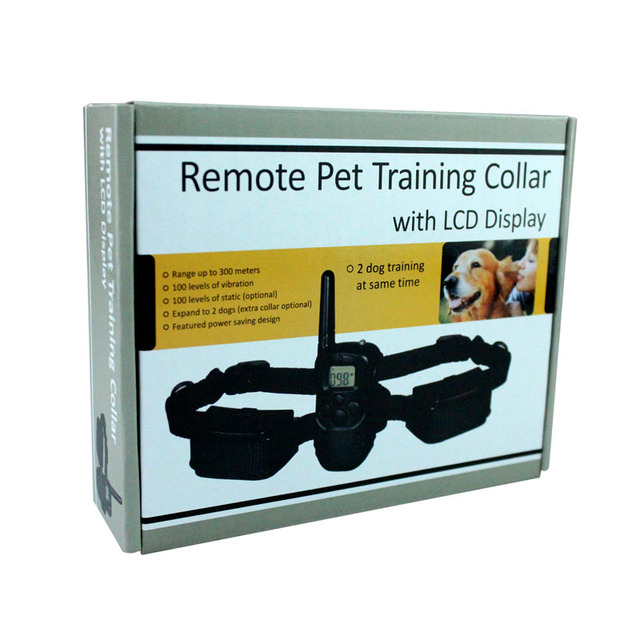 300 Meters Remote Pet Training Collar With LCD Display For 2 Dog M92