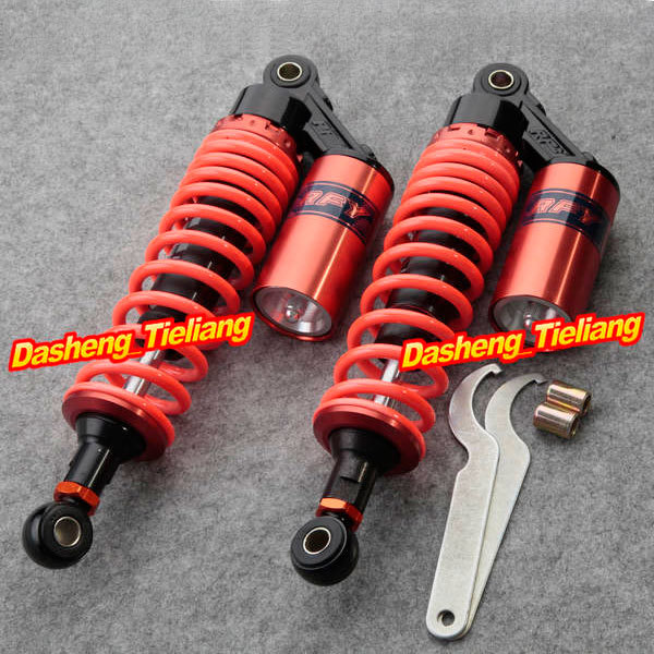 """Universal 320mm 12.5"""" Motorcycle Rear Air Shock Absorbers Fits for 125cc 150cc 200cc 250cc 300cc, Garnet Color(China (Mainland))"""