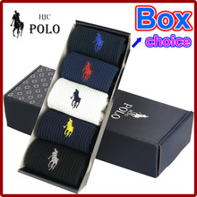 (5 Pairs) High Quality Fashion Brand Polo Men Socks Cotton Flax Brand Socks Embroidered Casual Business Socks calcetines hombre(China (Mainland))