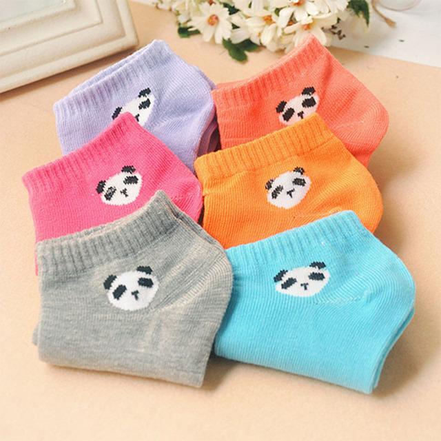 Женщины носки панда шаблон корея милый мультфильм конфеты цвет носки