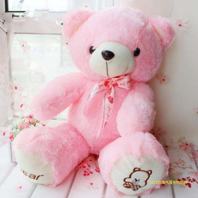 about 60cm pink teddy bear plush toy soft toy ,birthday gift h921(China (Mainland))