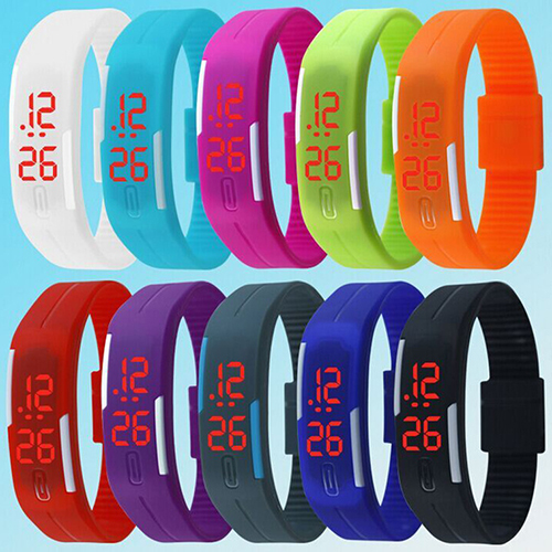 2016 2015 New Charming Wristwatches Unisex Mens Womens Silicone Red LED Sports Bracelet Touch Digital Wrist Watch 5V4N<br><br>Aliexpress
