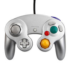 Silver Classic Gaming Joystick Wired Shock Game Controller Gamepad Joypad For Nintendo GameCube GC NGC Wii