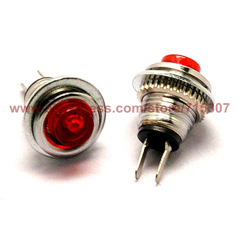 10pcs Red mini switch DS-101 reset button switch 1A 125V 8mm non locking switch normally open<br><br>Aliexpress