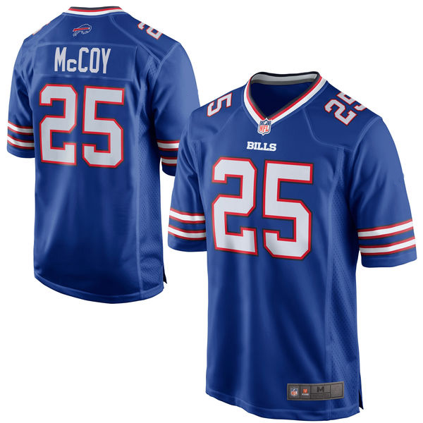 LeSean McCoy Jerseys Buffalo NFL Game Football Jersey - Royal Blue White(China (Mainland))