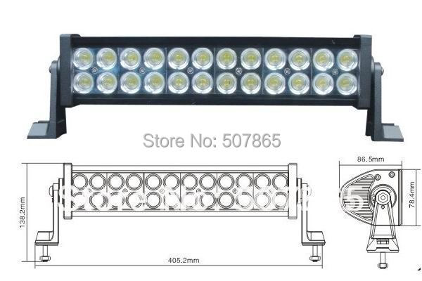 """led light bar 72W 12"""" ALL4 OFFROAD ATV TRUCK BOAT car bus 4wd 4x4 suv off road WORK LIGHT led bar(China (Mainland))"""