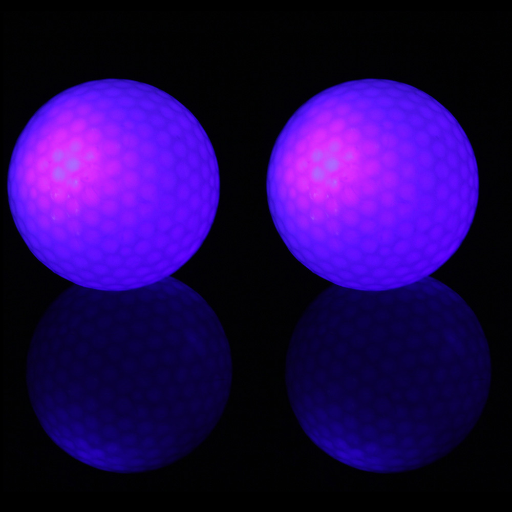 Free Shipping 2 pcs Creative Flashing Electronic Golf Balls 2-Pack Night Golfing Blue High Quality 2015 Hot New(China (Mainland))