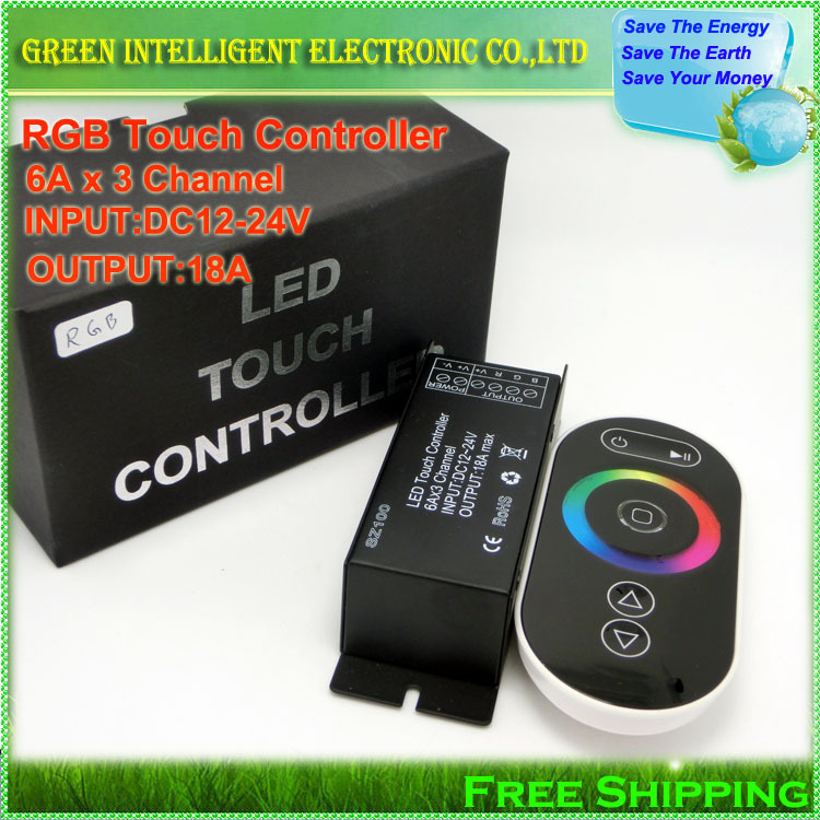 DC12-24V 18A  SZ100 RF Wireless RGB LED Dimmer Controller Touch Panel Remote  for RGB LED Strip Light,1set/lot<br><br>Aliexpress