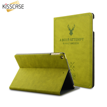 KISSCASE Luxury Case For iPad Mini 1 2 3 4 Leather Flip Stand Protective Cover For iPad Mini 1 2 3 4 Deer Skin Shockproof Fundas(China (Mainland))