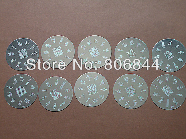 New Arrive 7.0CM Round Series Stamping Nail Art Plate Mix Design Stanless Image Plate 50PCS Free Shipping#261<br><br>Aliexpress