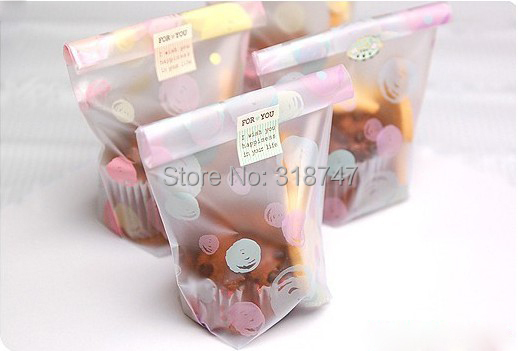 12*20cm Cookie Cake Gift packaging plastic bags snack package (without self-adhesive) 12pc/lot 0850001(China (Mainland))