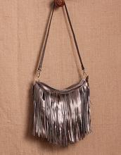 Free shipping 2016 women's genuine leather handbag medium-large bags soft leather tassel bag one shoulder